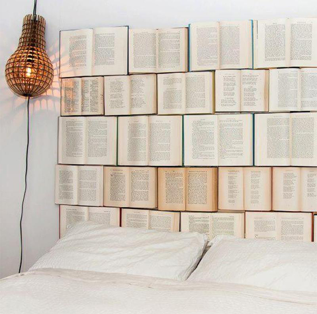 Books Upcycling Headboard Bedhead Styling Renovation Bedroom