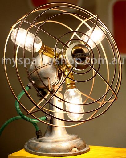 Upcycling Lamp Light Bulb Perth Interior Design Vintage Retro Industrial Mason Jars Fan