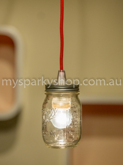 Upcycling Lamp Light Bulb Perth Interior Design Vintage Retro Industrial Mason Jars